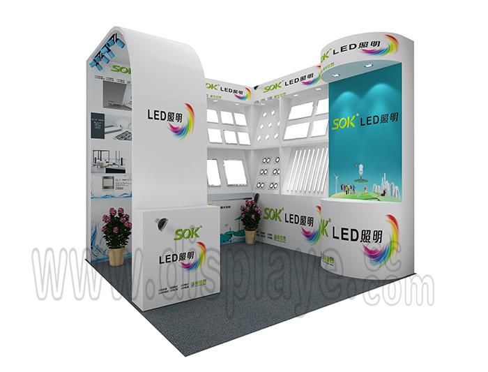 广东锦力电器有限公司-光亚展展台设计搭建效果图